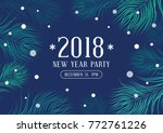 happy new year 2018 party... | Shutterstock .eps vector #772761226