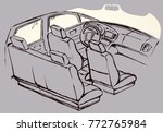 suv rear chair  rudder ... | Shutterstock .eps vector #772765984