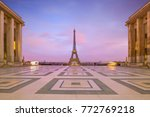 eiffel tower at sunrise from... | Shutterstock . vector #772769218