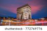 Famous Arc De Triomphe At...