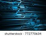 binary circuit board future... | Shutterstock .eps vector #772770634