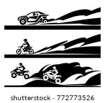 concept of different racing ... | Shutterstock .eps vector #772773526