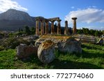 ancient corinth temple of... | Shutterstock . vector #772774060