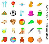 plaything icons set. cartoon... | Shutterstock .eps vector #772774699