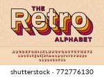 retro font 90's  80's with... | Shutterstock .eps vector #772776130