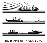 enjoying in various water... | Shutterstock .eps vector #772776370