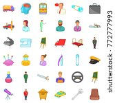 human resource icons set.... | Shutterstock .eps vector #772777993