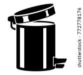 trash bin icon. simple...   Shutterstock .eps vector #772778176