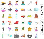 leader icons set. cartoon style ... | Shutterstock .eps vector #772778233