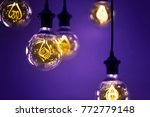 group of ultra volet lamps with ... | Shutterstock . vector #772779148