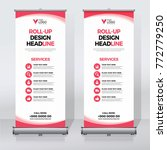 roll up banner design print... | Shutterstock .eps vector #772779250