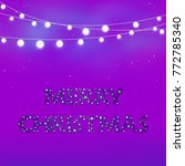 merry christmas. text with star ... | Shutterstock . vector #772785340