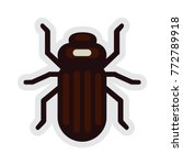 bark beetle insect in flat... | Shutterstock .eps vector #772789918