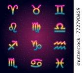 collection of twelve gradient... | Shutterstock .eps vector #772790629