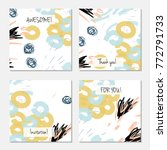 hand drawn creative universal... | Shutterstock .eps vector #772791733