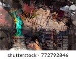 Abstract Painting. Liberty...
