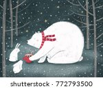 merry christmas and happy new... | Shutterstock . vector #772793500