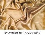fabric made of silk fabric...   Shutterstock . vector #772794043