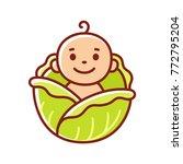cute cartoon baby found in... | Shutterstock .eps vector #772795204