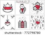 premade handdrawn set of...   Shutterstock .eps vector #772798780