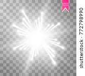 glow light effect. starburst... | Shutterstock .eps vector #772798990