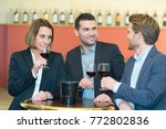 wine tasting in bar | Shutterstock . vector #772802836
