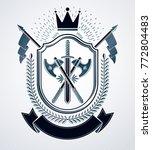 classy emblem  vector heraldic...   Shutterstock .eps vector #772804483