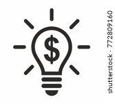 light bulb icon | Shutterstock .eps vector #772809160