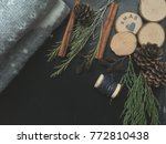 concept rustic christmas...   Shutterstock . vector #772810438