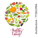 healthy eating agitation poster ... | Shutterstock .eps vector #772813984