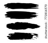 vector black paint  ink brush... | Shutterstock .eps vector #772816570