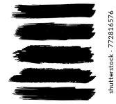 vector black paint  ink brush... | Shutterstock .eps vector #772816576