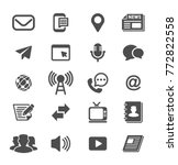 media and communication glyph... | Shutterstock .eps vector #772822558