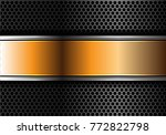 abstract gold silver line... | Shutterstock .eps vector #772822798