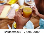 eating  drink and people... | Shutterstock . vector #772832080