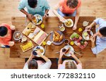 food  eating and family concept ... | Shutterstock . vector #772832110