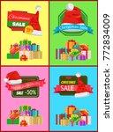 christmas sale promotional...   Shutterstock .eps vector #772834009