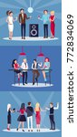 corporate party set of four... | Shutterstock .eps vector #772834069