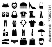 set of 25 fashion filled icons... | Shutterstock .eps vector #772837864