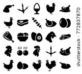 set of 25 chicken filled icons... | Shutterstock .eps vector #772837870