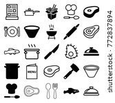 set of 25 cook filled and... | Shutterstock .eps vector #772837894