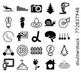 set of 25 creative filled and... | Shutterstock .eps vector #772837948