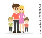 isolated happy family with... | Shutterstock .eps vector #772838644