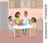 african american family dinner... | Shutterstock .eps vector #772838650