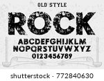 font.alphabet.script.typeface... | Shutterstock .eps vector #772840630
