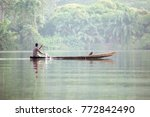 traditional boat on tropical... | Shutterstock . vector #772842490