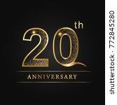 anniversary aniversary  twenty... | Shutterstock .eps vector #772845280