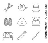 tailoring linear icons set.... | Shutterstock .eps vector #772851430
