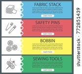 tailoring web banner templates...   Shutterstock .eps vector #772851439