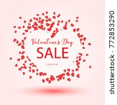 valentine's day sale banner for ... | Shutterstock .eps vector #772853290